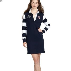 Brooks Brothers Long Sleeve Striped Rugby Dress